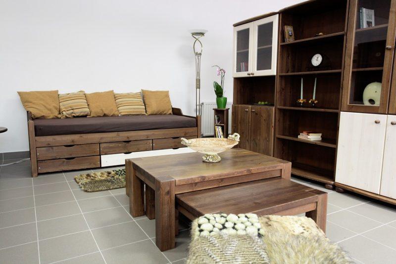 fenyő rusztikus nappali bútorok