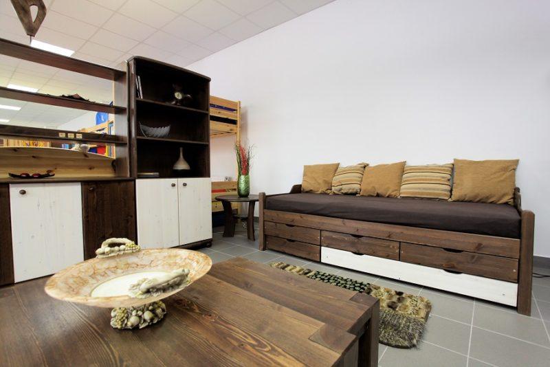 fenyő rusztikus kanapé szoba bútorok