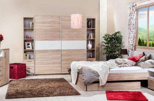 Világos sonoma hálószoba bútorok