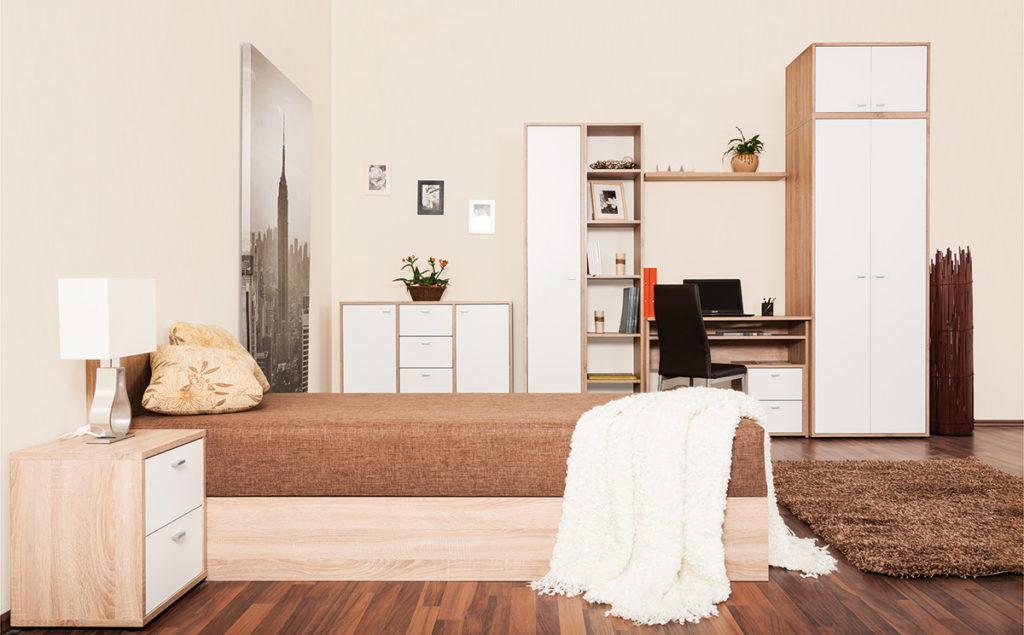Zero bútorcsalád (előszoba, ifjúsági szoba, nappali)