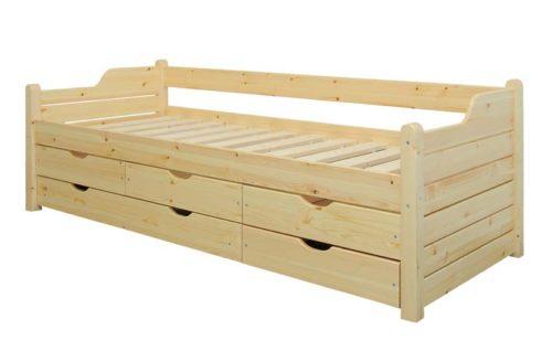 5 fiókos fenyő ágykeret 90 cm-es