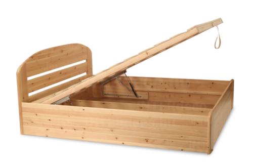 Anikó gázrugós ágyneműtartós fenyő ágy