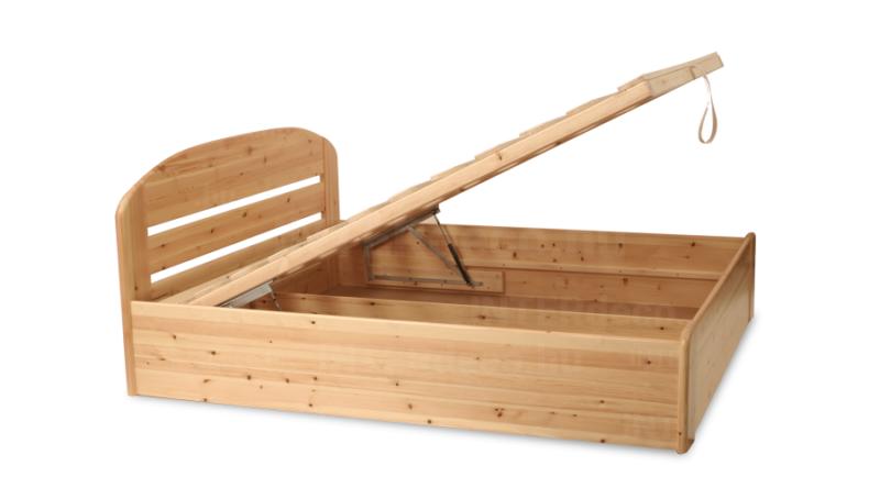 Anikó Etsberger gázrugós ágyneműtartós fenyő ágy