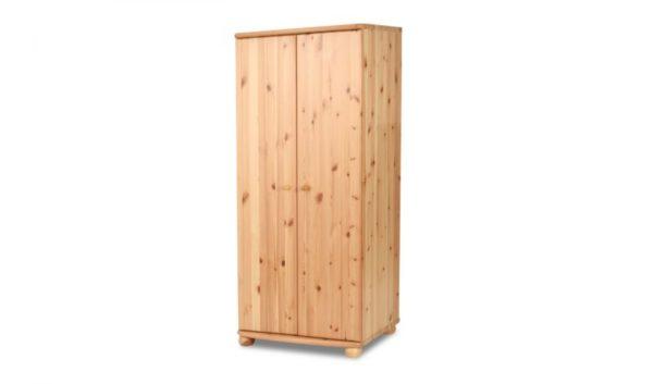 Claudia fenyő akasztós polcos szekrény