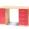 Claudia színes íróasztal pink fenyő