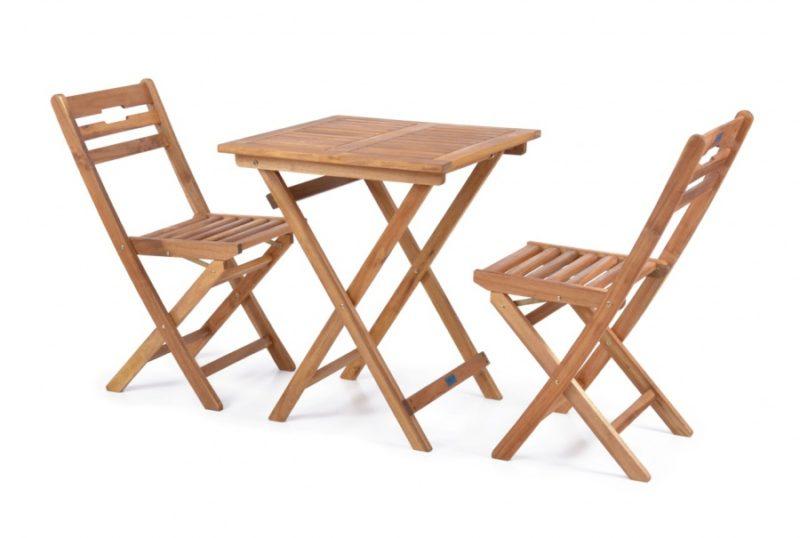 Kerti bútor szett kicsi, 2 székkel