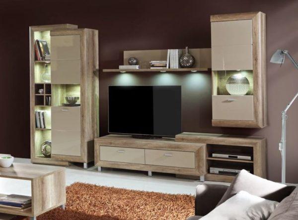 Gatik fényes szekrénysor nappali
