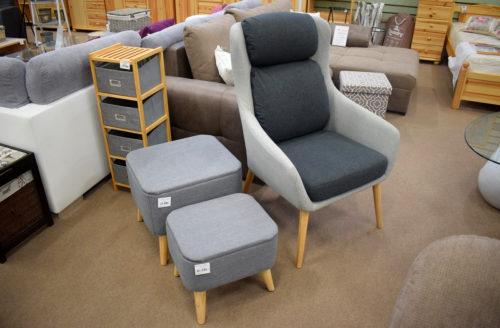 Fotel, tárolós ülőkék