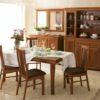 Kora étkező bútorok vitrin asztal székek